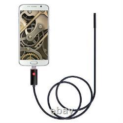 10M 6 LED Waterproof Micro USB Borescope Inspection Endoscope Tube Camera 30Ft