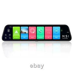 12 4G Android 8.1 Quad Core BT GPS Navi Car DVR Camera Dash Cam Video Recorder