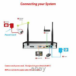 2 way Audio 1080P HD 8CH DVR Outdoor CCTV Home Security Camera System WiFi