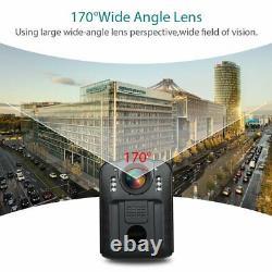 2x Boblov WN9 1296P FHD Compact&Portable Body Police Camera Pocket Action Cam