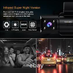 3 Camera Lens Cam Dash 4K UHD HDR Car Vehicle GPS DVR Video Driving Recorder IR