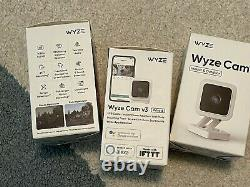 3 PACK WYZE CAM V3 Indoor Outdoor WiFi Camera Color Night Vision NEW IN BOX