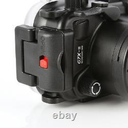 40m Waterproof Underwater Housing Case Cover For Canon PowerShot G7X Mark II Cam