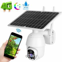 4G/WiFi 1080P Solar PTZ IP Camera CCTV Security Waterproof Night Vision Outdoor