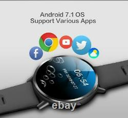 4G smart watch Android 7.1 8MP Cam GPS 2'' 900mah Sports Business Strap for men
