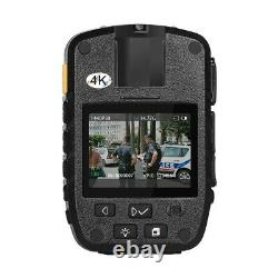 4K 1296P Security Body Worn Camera Police Pocket Video Recorder Night Vision Cam
