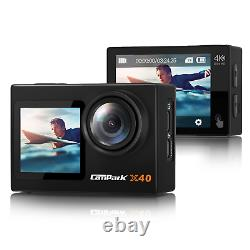 4K/30fps Vlogging Action Camera 20MP WiFi Sports Cam Remote Control Dual Screen