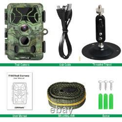 4K Trail Camera WiFi Bluetooth Deer 30MP Hunting Game Cam NightVision Waterproof