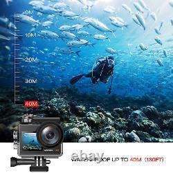 4K Vlogging Camera 20MP Action Camera WiFi Sports Cam Remote Control Dual Screen