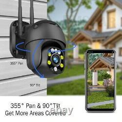 5MP 1080P 5X Zoom PTZ Camera Wireless Outdoor Security IP CCTV Night Vision cam