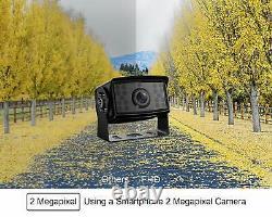 7'' Monitor Car Backup Camera Rear View System Kit Reversing Waterproof Cam FHD2