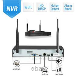 8CH 1080P Wireless Home Security Camera System Outdoor IPC NVR 2TB HDD CCTV HDMI