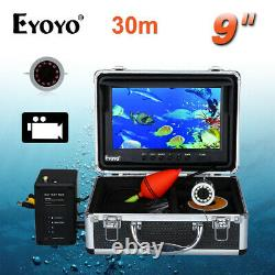 9 inch 30M Fish Finder HD 1000TVL Underwater Fishing Camera 8GB DVR Video Cam