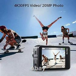 AKASO Brave 7 LE WiFi Action Camera 20MP with Touch Screen Vlog Cam Fisheye Lens