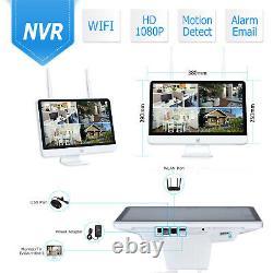 ANRAN 15LCD 8CH NVR Wifi Security Camera System 2TB HDMI 1080P HD Night Vision