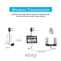 ANRAN 8CH 3MP Wireless WiFi Security Camera System Outdoor with 12''Monitor 1TB