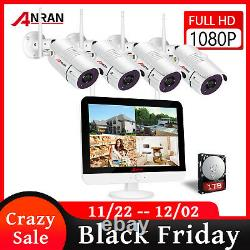 ANRAN 8CH NVR 1080P CCTV Outdoor WIFI Wireless Security Camera System 1TB HDD IP