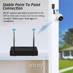 ANRAN Wireless 2MP Security System 8Channels NVR Audio Camera WIFI 1080P Set P2P