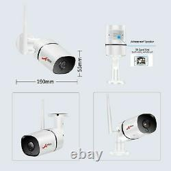 ANRAN Wireless Audio Security Camera System Outdoor CCTV 8CH Home Security Video