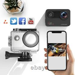 Action Camera Campark V30 20MP Waterproof 4K Ultra FHD Touch Sport Cam Camcorder