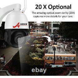 Anran 5.0MP WiFi Dome IP Security Camera Wireless Outdoor PTZ 20XZoom 64GB Night