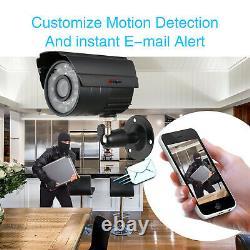 Anspo 4CH CCTV Security Camera System AHD DVR Waterproof IR Night Vision IP Cam