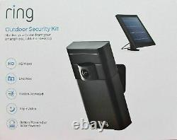 BNIB Ring Outdoor Security Kit HD Stick up Cam Camera withSolar Panel 88WP000FC000