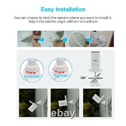Battery Security Camera System Solar Powered 2K WireFree Home Outdoor CCTV IP66