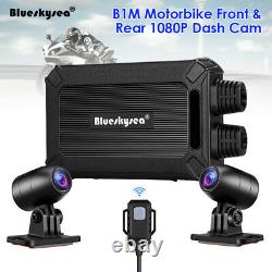 Blueskysea B1M IP67 NT96663 2 Channels 1080P Motorbike Wifi Dash Cam Camera