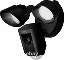 Brand New Ring Floodlight Cam Motion Activated Security Camera Black and White