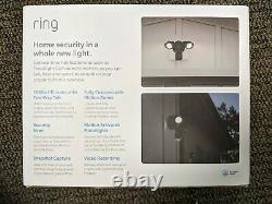 Brand New Sealed Ring Floodlight Camera HD Security Cam 2-Way Talk Black