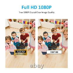 CCTV Security Camera System 1080P HD 8CH NVR HDMI 2.0MP Cams 2Way Audio DayNight