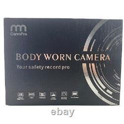 CammPro I826 1296P HD Police Body Cam 128G Memory Waterproof Worn Camera Night