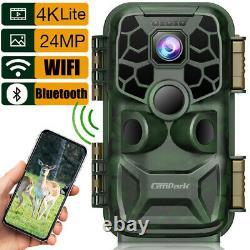 Campark 4K 24MP WiFi Trail Camera Deer Hunting Game Cam Night Vision Waterproof