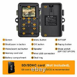 Campark Trail Camera WiFi Bluetooth 20MP Hunting Game Cam NightVision Waterproof