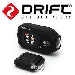 Drift 1080p Waterproof Helmet Camera LCD Av Wireless Remote Pov Action Cam