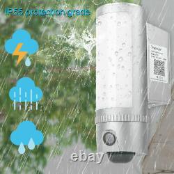 Freecam 1080P WiFi IP Camera LED Wall Light Security CCTV Outdoor Cam Waterproof