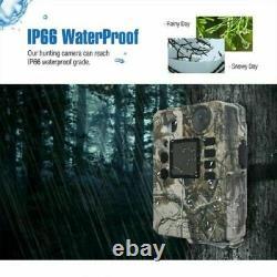 Game Trail Camera Solar Powered Digital Security Cam Waterproof IR Night Vision