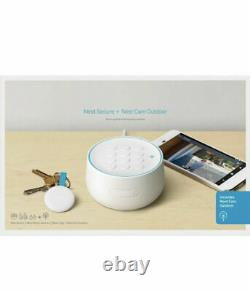 Google Nest Secure Alarm System with Nest Cam Outdoor White (B01234-US) No Tags