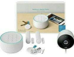 Google Nest Secure Alarm System with Nest Cam Outdoor White (B01234-US) Open Box