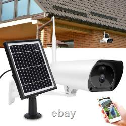 HD 1080P Outdoor Wireless Solar Powered IP Camera WiFi Security Night Vision Cam