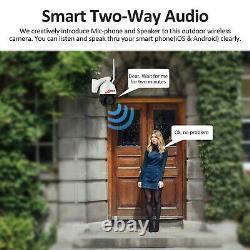 HD 5MP Wireless Wifi IP Camera Home Security Cam Outdoor Audio IR Night Vision