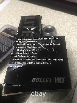 HD Fire Fighter Video BULLETHD Helmet Cam Camera Waterproof BlackJack 16GB SD