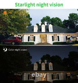 Home Security Camera Outdoor Solar Battery Powered Wireless Wifi Cam Pan Tilt