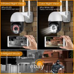 KERUI WIFI IP Security Camera Wireless Waterproof 1080P Smart PTZ Outdoor Cam
