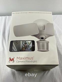 Maximus Floodlight Camera Motion-Activated HD Security Cam Two-Way Talk