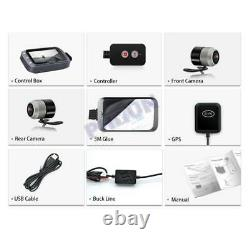 Motorcycle Scooter DVR Dash Cam WiFi 1080P FHD with Front & Rear Camera Waterproof
