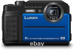 Panasonic DC-FT7EB-A 4K Waterproof Tough Digital Action Cam Camera 20.4MP Blue
