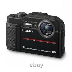 Panasonic DC-FT7EB-K 4K Waterproof Tough Digital Action Cam Camera 20.4MP, Black