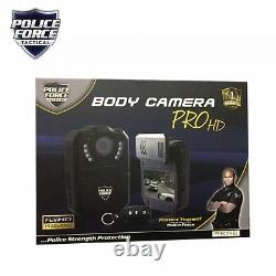 Police Force Tactical Body Camera Pro HD Dash Cam 32GB One Touch/Remote Activate